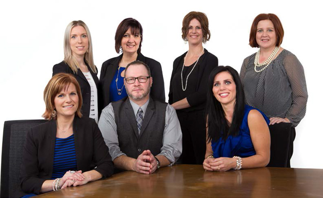 Pictured from left to right, back row: Adèle Green, internal review specialist; Florence Flower,<br>client service specialist; Grace Samson, internal review specialist; Robyn Gardner Losier, internal review specialist. Front row: Rebecca Bonnell Conners, internal review specialist;<br>Tim MacFarlane, manager, IRO; Stephanie Allport, administrator.